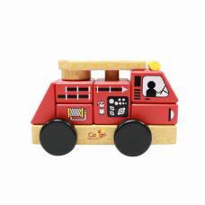 Đồ chơi xe cứu hỏa lắp ráp gỗ